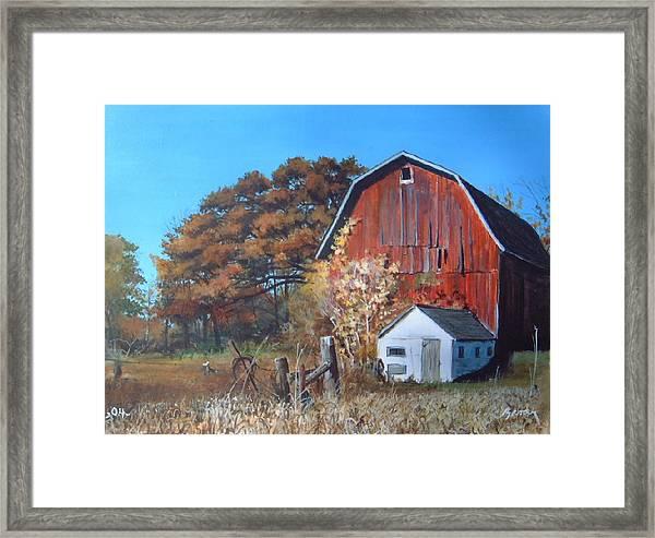 Rose Center Barn Framed Print