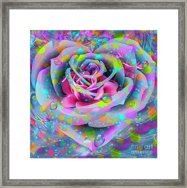 Framed Print featuring the digital art Rose by Eleni Mac Synodinos