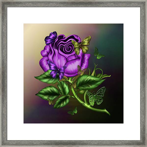 Rose Party Framed Print