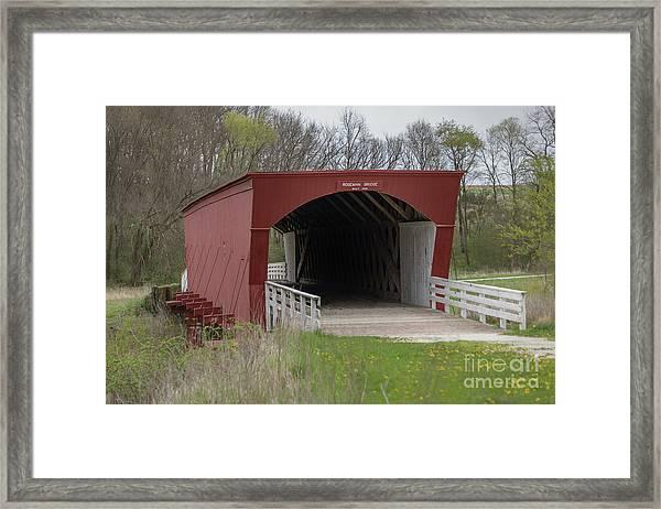 Roseman Covered Bridge - Madison County - Iowa Framed Print