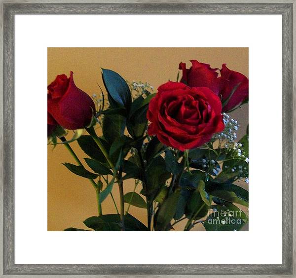 Roses For Valentines Day Framed Print by Marsha Heiken