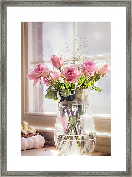 Roses In The Kitchen Framed Print