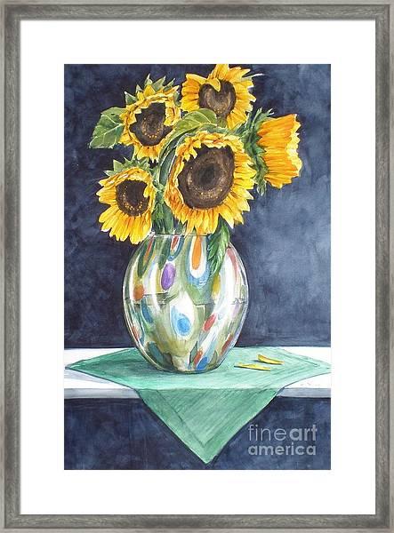 Rose's Sunflowers Framed Print