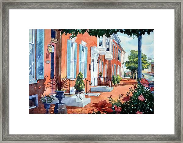 Rosewalk Framed Print