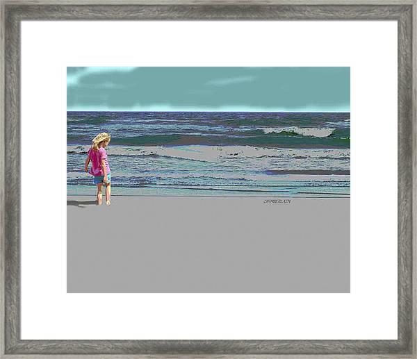 Rosie On The Beach Framed Print