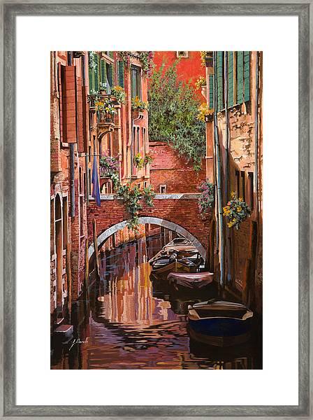 Rosso Veneziano Framed Print