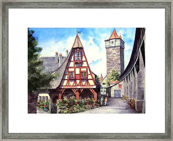 Rothenburg Memories Framed Print