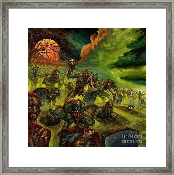 Rotten Souls Taint The Land Framed Print