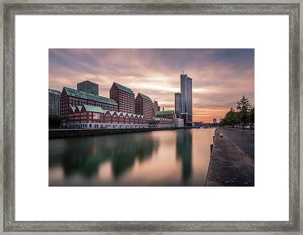Rotterdam Spoorweghaven Framed Print