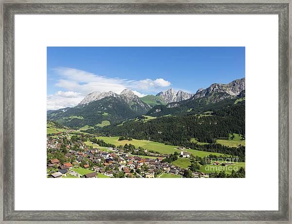 Rougemont Village In Switzerland Framed Print