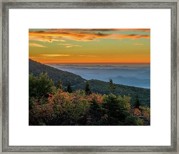 Rough Morning - Blue Ridge Parkway Sunrise Framed Print