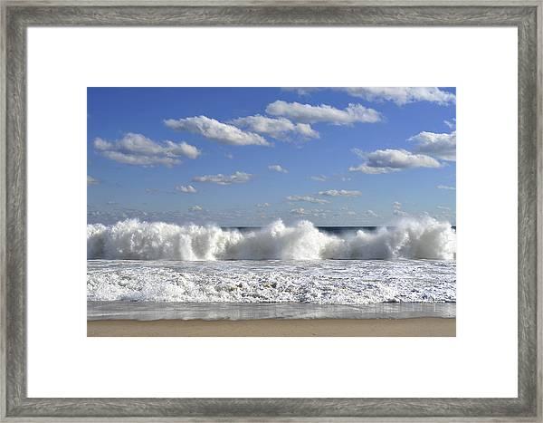 Rough Surf Jersey Shore  Framed Print