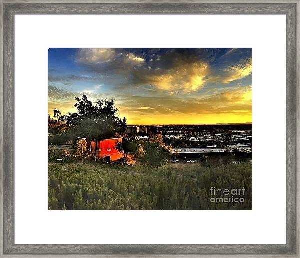 Round Barn Framed Print