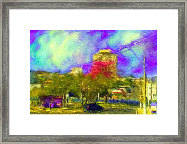 Roundabout In Franca Do Imperador  Framed Print