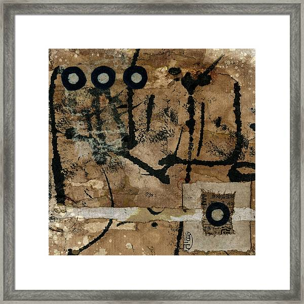 Rounding Square Collage Framed Print