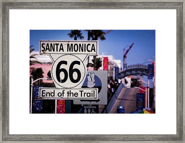 Route 66 End Of Trail Framed Print
