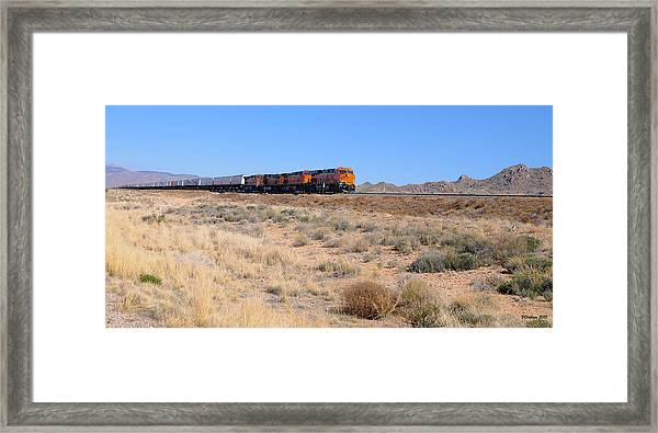 Route 66 Freight Train Framed Print