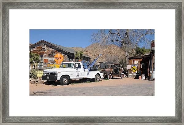 Route 66 Old Shell Service Station Framed Print