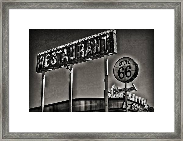 Route 66 Restaurant Framed Print