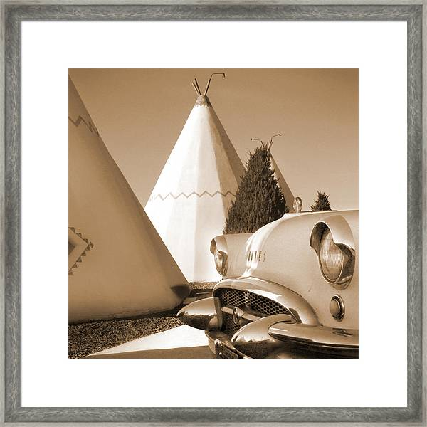 Route 66 - Staying At The Wigwam Framed Print