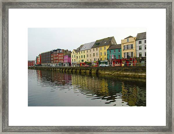 Row Homes On The River Lee, Cork, Ireland Framed Print