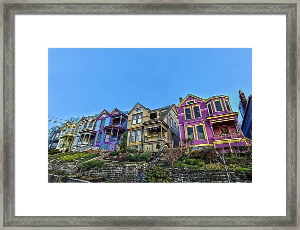Row Houses Framed Print