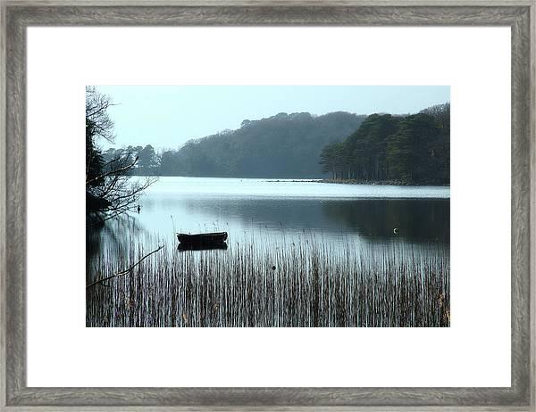 Rowboat On Muckross Lake Framed Print