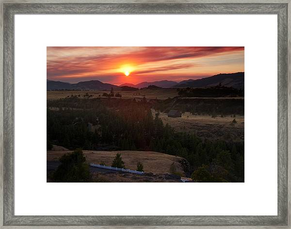 Rowena Sunset Framed Print
