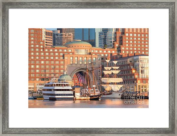 Framed Print featuring the photograph Rowes Wharf by Susan Cole Kelly