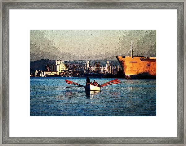 Rowing On The Estuary Framed Print