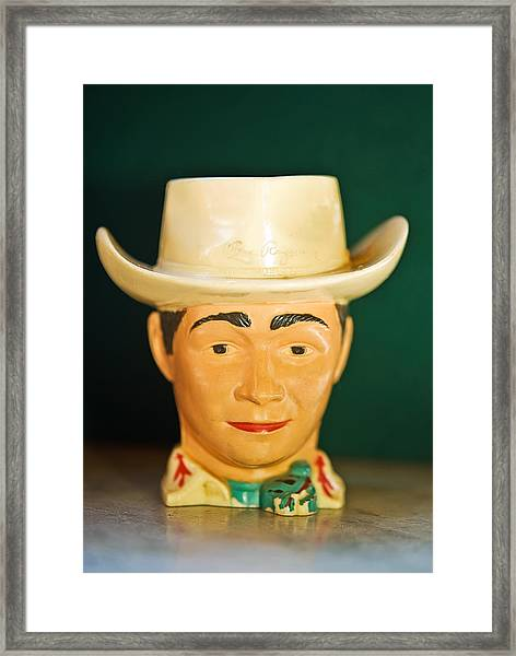 Roy Rogers Cup Framed Print
