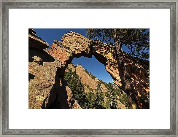 Royal Arch Trail Arch Boulder Colorado Framed Print