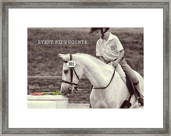 Royal Ascot Quote Framed Print
