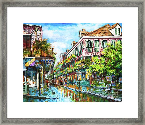 Royal At Pere Antoine Alley, New Orleans French Quarter Framed Print