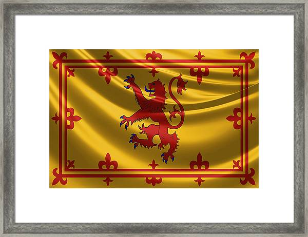 Royal Banner Of The Royal Arms Of Scotland Framed Print