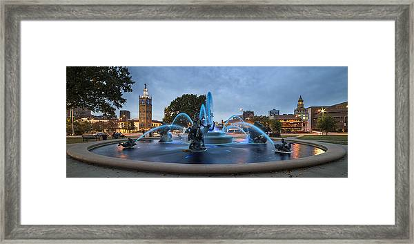 Royal Blue Fountain Framed Print