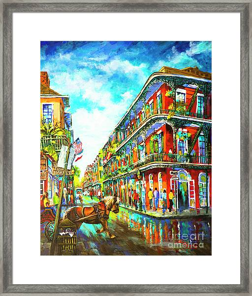 Royal Carriage - New Orleans French Quarter Framed Print