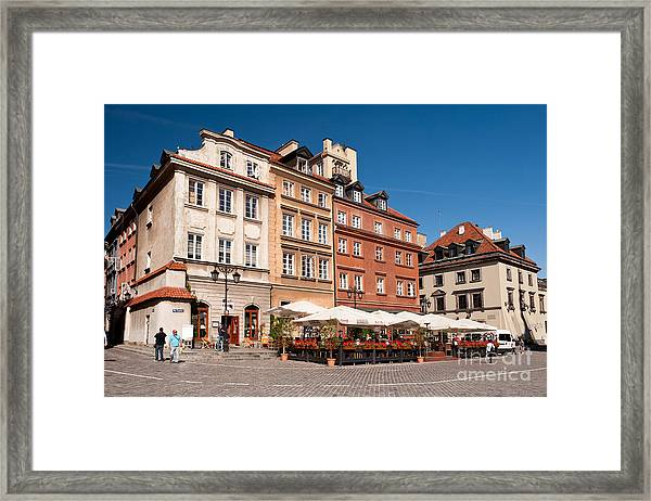 Royal Castle Square Architecture Framed Print