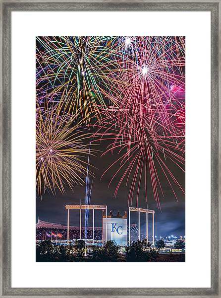 Royal Fireworks Framed Print