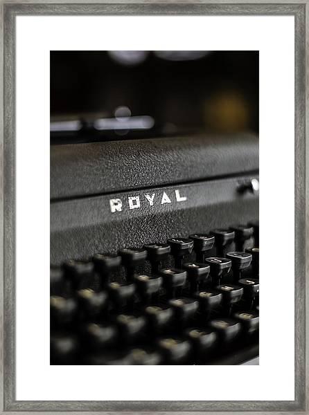 Royal Typewriter #19 Framed Print