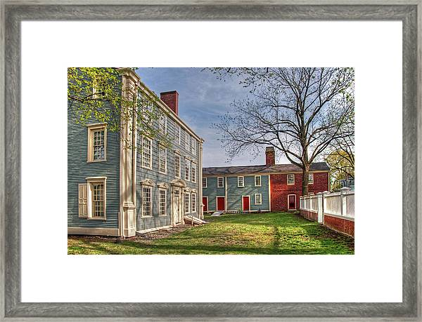 Royall House And Slave Quarters Framed Print