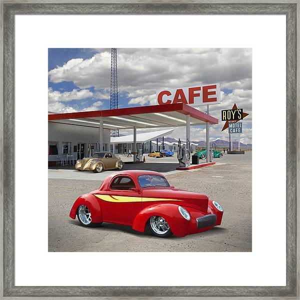 Roy's Gas Station - Route 66 2 Framed Print
