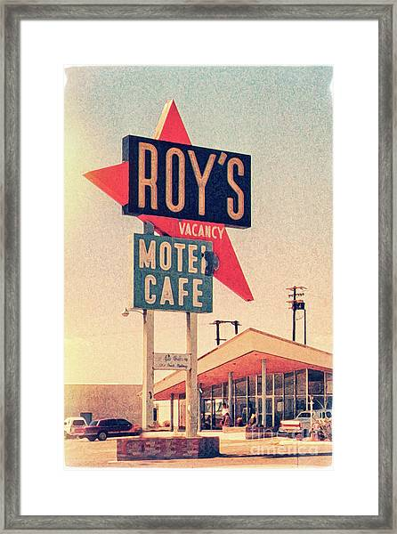 Roy's Motel Framed Print by Delphimages Photo Creations