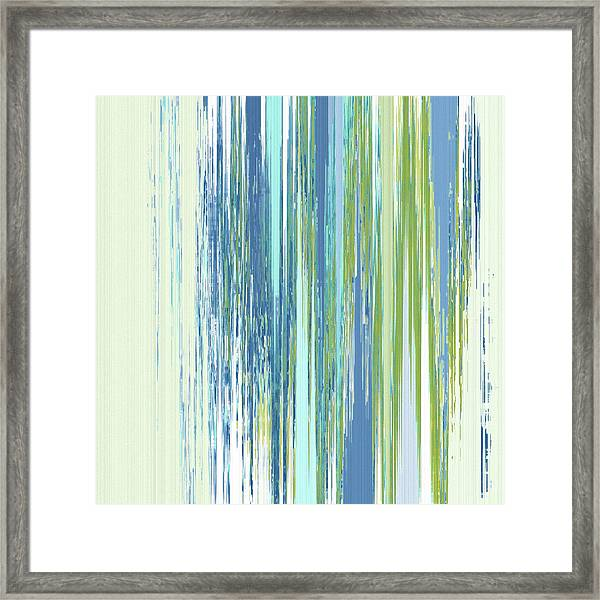 Framed Print featuring the digital art Rainy Street by Gina Harrison