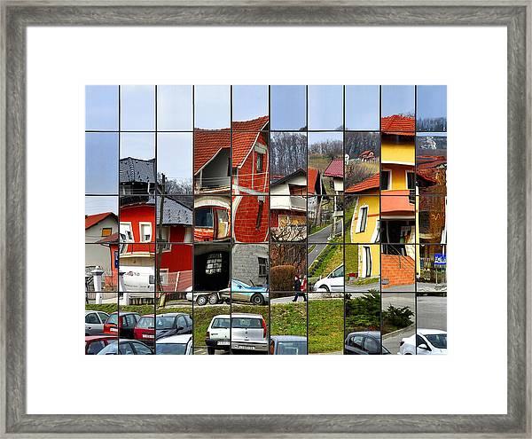 Rubik's Town Framed Print by Samanta