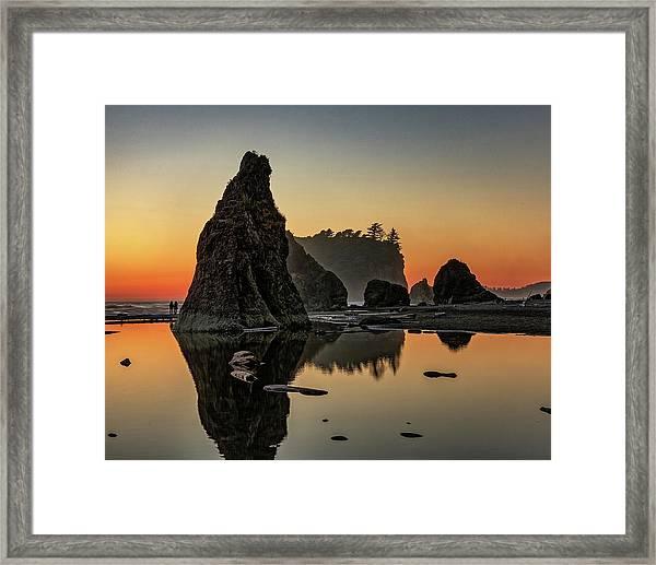 Ruby Beach At Sunset Framed Print