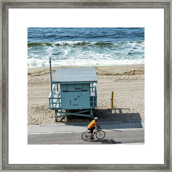 Framed Print featuring the photograph Ruby by Eric Lake