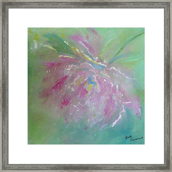 Ruby Red Peony Framed Print