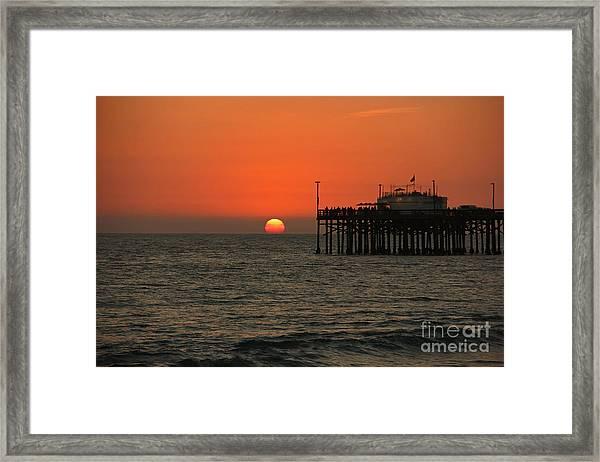 Ruby's Sunset Framed Print
