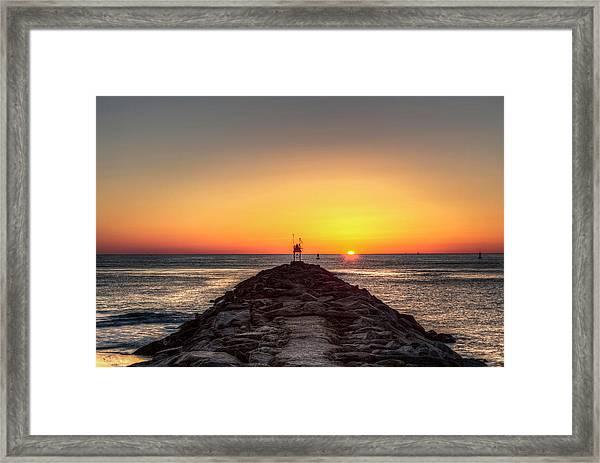 Rudee Inlet Jetty Framed Print